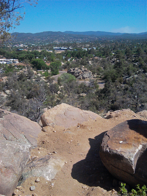 View from atop a rock outcrop
