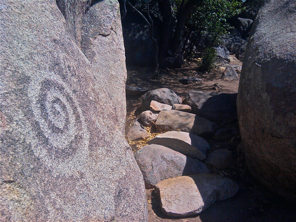 Petroglyphs along the trail