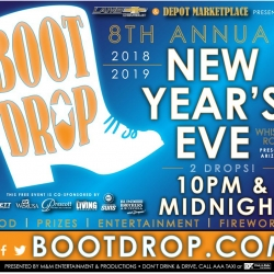 New Year's Eve Boot Drop